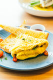 Spanich omelet in plate Royalty Free Stock Image