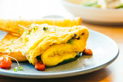 Spanich omelet in plate Stock Photo