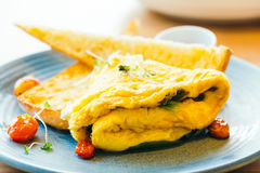 Spanich omelet in plate Stock Image