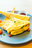 Spanich omelet in plate Stock Photography