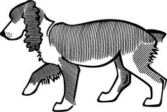 Spaniel Dog. Line drawing of a spaniel Royalty Free Stock Photography