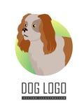 Spaniel Dog Logo on White Background Stock Images