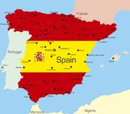 Spanien royaltyfri illustrationer