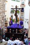 Spanien andalucia, semana santa Arkivbild