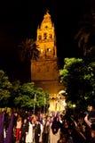 Spanien andalusia, semana santa Arkivbilder