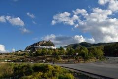 Spanien Andalusia, Zahara de la Toppig bergskedja royaltyfri fotografi
