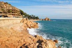 Spanien-Ansicht in Tossa Del Mar Lizenzfreie Stockfotos