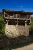 Spanien Asturias, Cornellana, horreo - traditionell ladugård Royaltyfri Bild