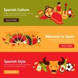 Spanien baneruppsättning Arkivbild