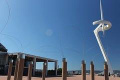 Spanien - Barcelona, landsikt, dygnet runt royaltyfri foto