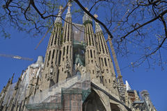 Spanien, Barcelona, Sagrada Familia - May-02,2013 Lizenzfreie Stockfotos