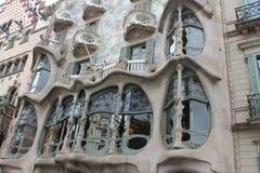 Spanien Barselona CasaBatllà ³ 2015 royaltyfria foton