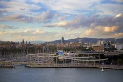 Spanien Barselona- November 20, 2013 Barcelona Beskåda av staden arkivbilder