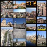 Spanien collage royaltyfri bild