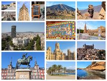 Spanien-Collage Stockfotos