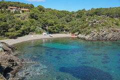 Spanien Costa Brava Pebble Beach medelhav Fotografering för Bildbyråer