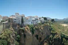 Spanien den gamla staden av Ronda, Malaga En sikt till den gamla moriska fjärdedelen royaltyfria bilder