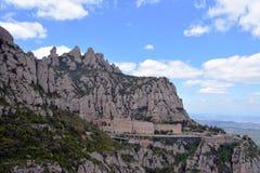 Spanien, der Berg von Montserrat Stockfotografie