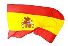 Spanien flagga på vit Arkivbild