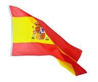 Spanien flagga på vit Royaltyfria Foton