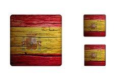 Spanien flaggaknappar Arkivfoto