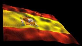 Spanien-Flagge stock video