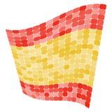 Spanien-Flaggenvektorillustration Lizenzfreie Stockfotos