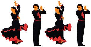 Spanien-Flamenco Stockfotos