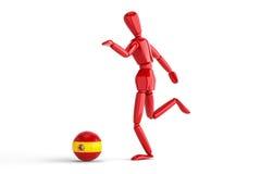 Spanien fotboll Arkivfoton