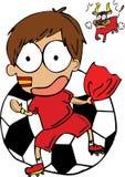 Spanien fotbollsspelare Arkivbild