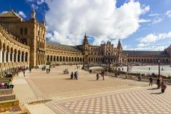 Spanien fyrkant Arkivfoton