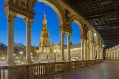 Spanien fyrkant i Seville, Andalusia, Spanien arkivfoton