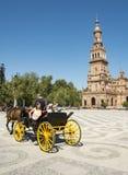 Spanien fyrkant, Sevilla Arkivbild