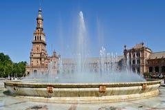 Spanien fyrkantPlaza av Spanien i Seville, Spanien royaltyfri foto