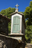 Spanien Galicia, Melide, horreo - traditionell ladugård Fotografering för Bildbyråer