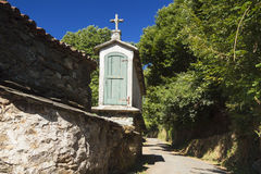 Spanien Galicia, Melide, horreo - traditionell ladugård Royaltyfria Foton
