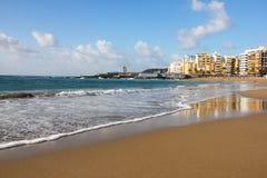 Spanien. Gran Canaria ö. Las Palmas de Gran Canaria. Las välter Arkivfoto