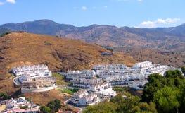 Spanien-Häuschendorf in der Montierung Stockbild
