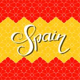 Spanien-Handbeschriftung lizenzfreie abbildung