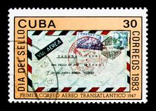Spanien-Havana-Abdeckung, Stempel-Tag-serie, circa 1983 Lizenzfreie Stockfotografie