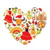 Spanien-Herzdruck lizenzfreie abbildung