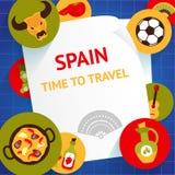 Spanien-Hintergrundschablone lizenzfreie abbildung