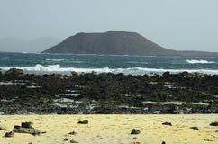 Spanien kanariefågelö, Fuerteventura royaltyfri fotografi
