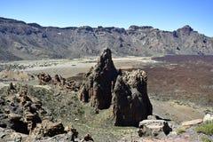 Spanien kanariefågelöar, Tenerife, caldera royaltyfri bild