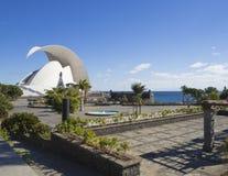 Spanien kanariefågelöar, Tenerife, Santa Cruz de Tenerife, Decembe royaltyfri fotografi