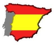 Spanien-Karte Lizenzfreies Stockfoto