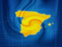 Spanien-Karte techno Lizenzfreies Stockbild