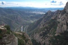 Spanien. Katalonien. Montserrat. Lizenzfreie Stockfotografie