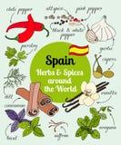 Spanien-Kräuter und -gewürze Stockfotos