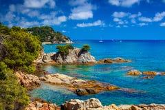 Spanien kust Arkivfoto